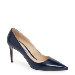 NWT Prada navy blue heels